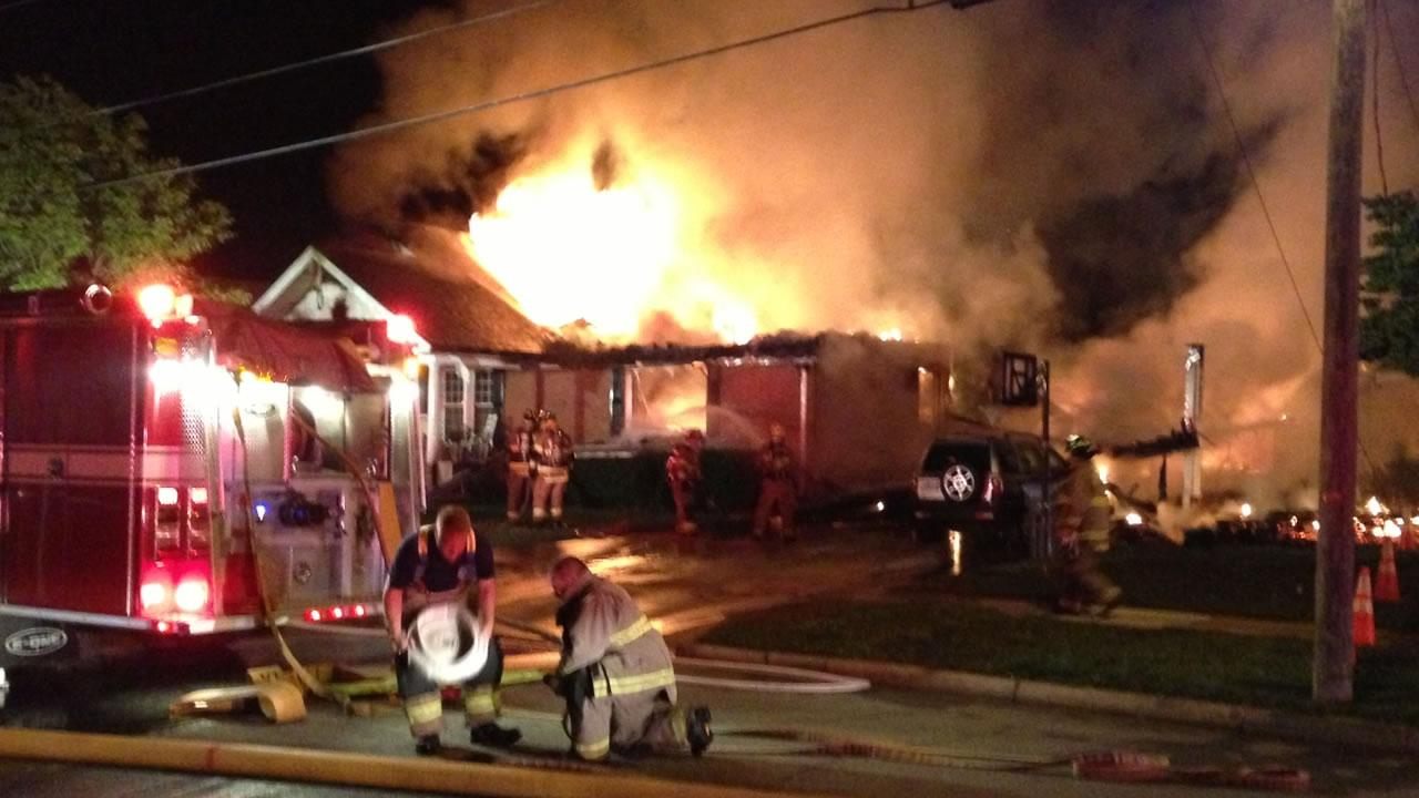 Crews battle Johnston County house fire
