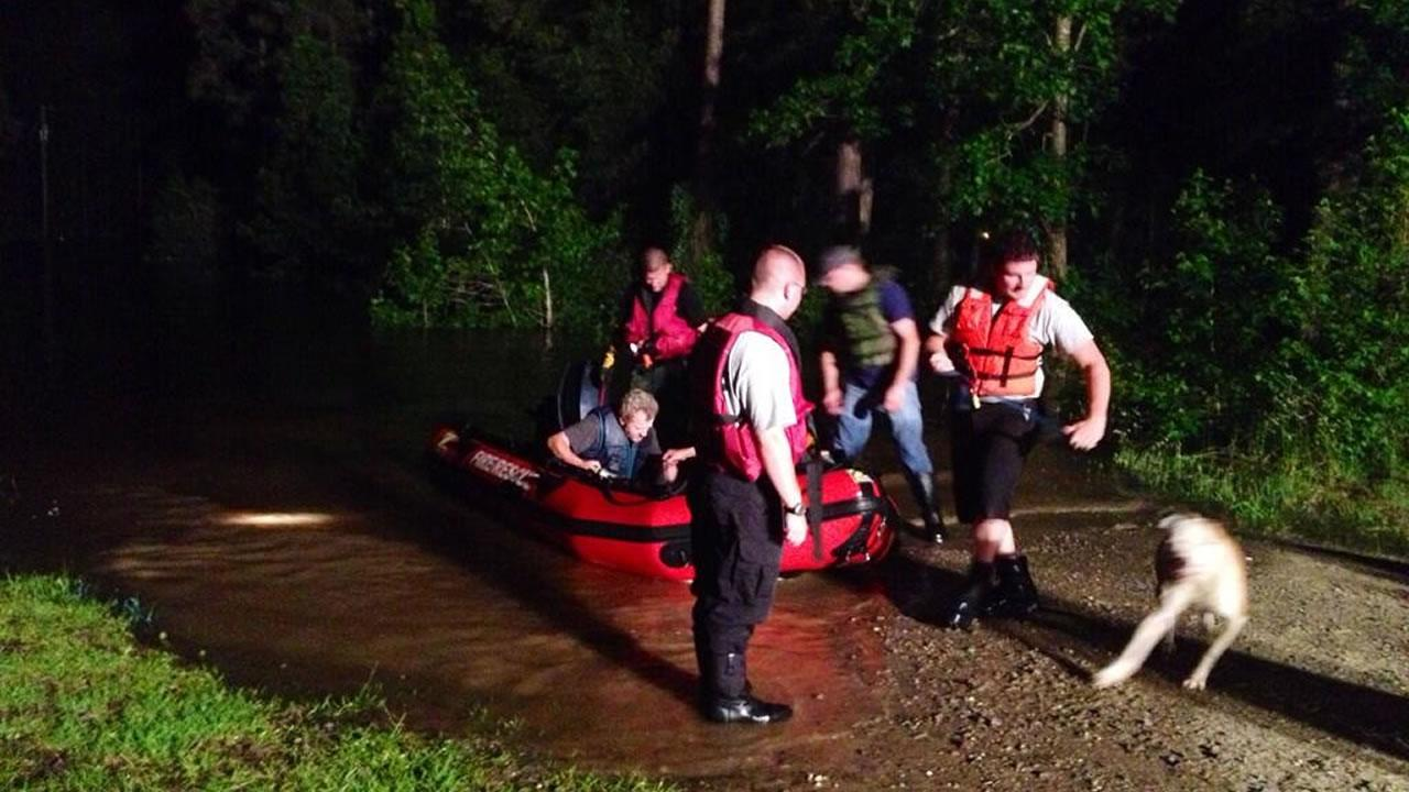 Ten homes in the Moore County town of Vass were evacuated Saturday night