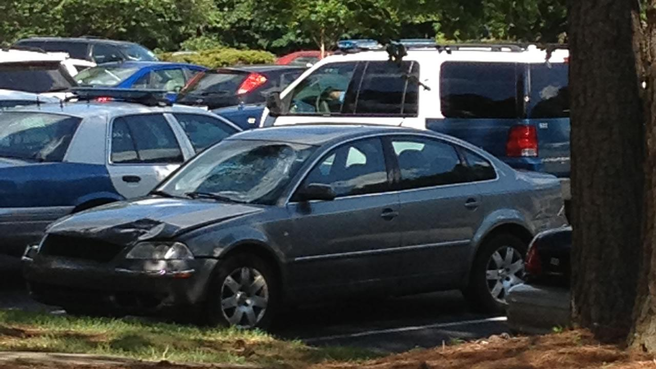 Police say this is the car that was driven during Saturdays fatal hit-and-run on Hillsborough Street in Raleigh