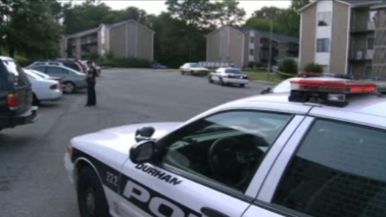 Police say several cars were damaged in the shootout that took place at the Bay Creek Apartments in Durham