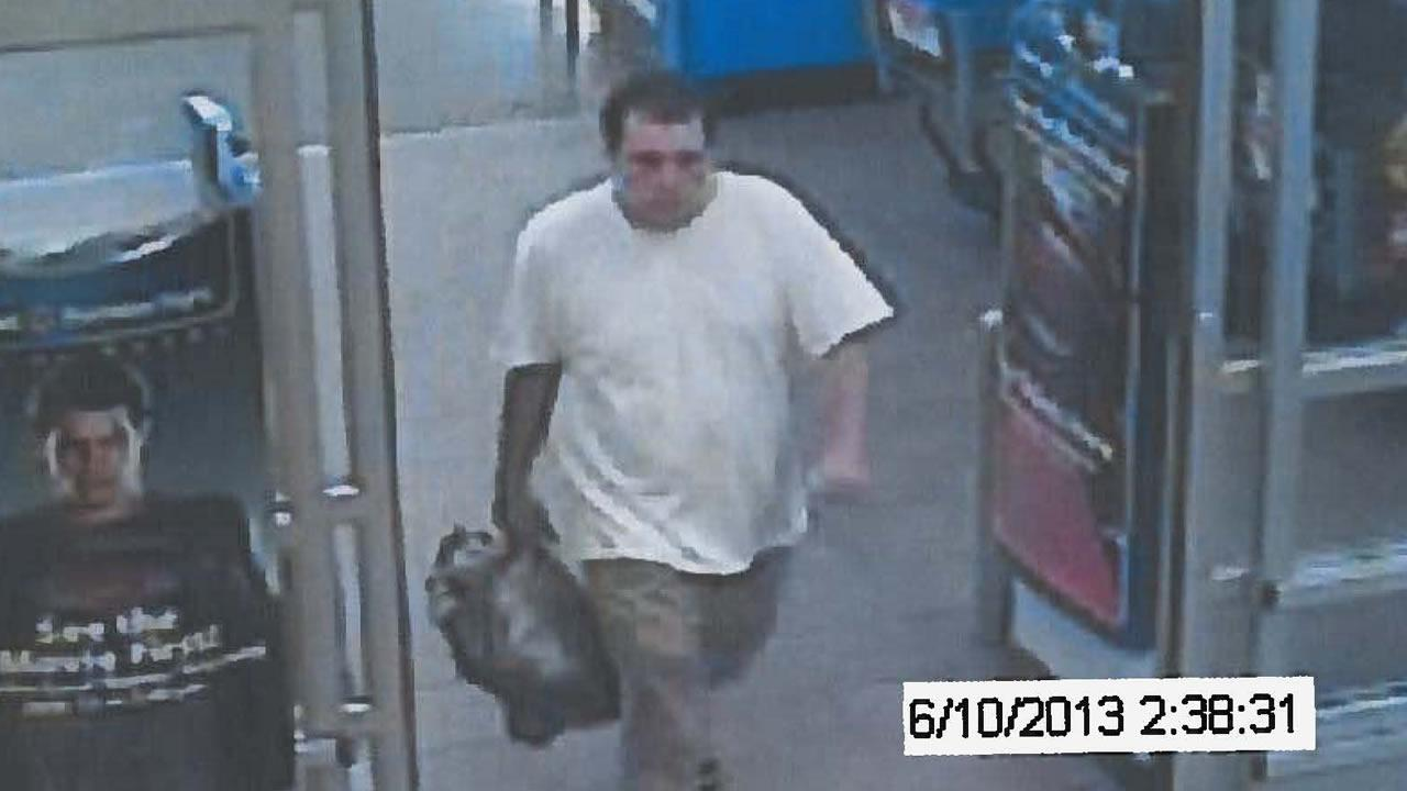 The Wake County Sheriffs Office is seeking assistance from the public in identifying a person seen in store surveillance pictures. It says he is wanted for questioning in a burglary June 10 at a subdivision off Creedmoor Road in northern Wake County.