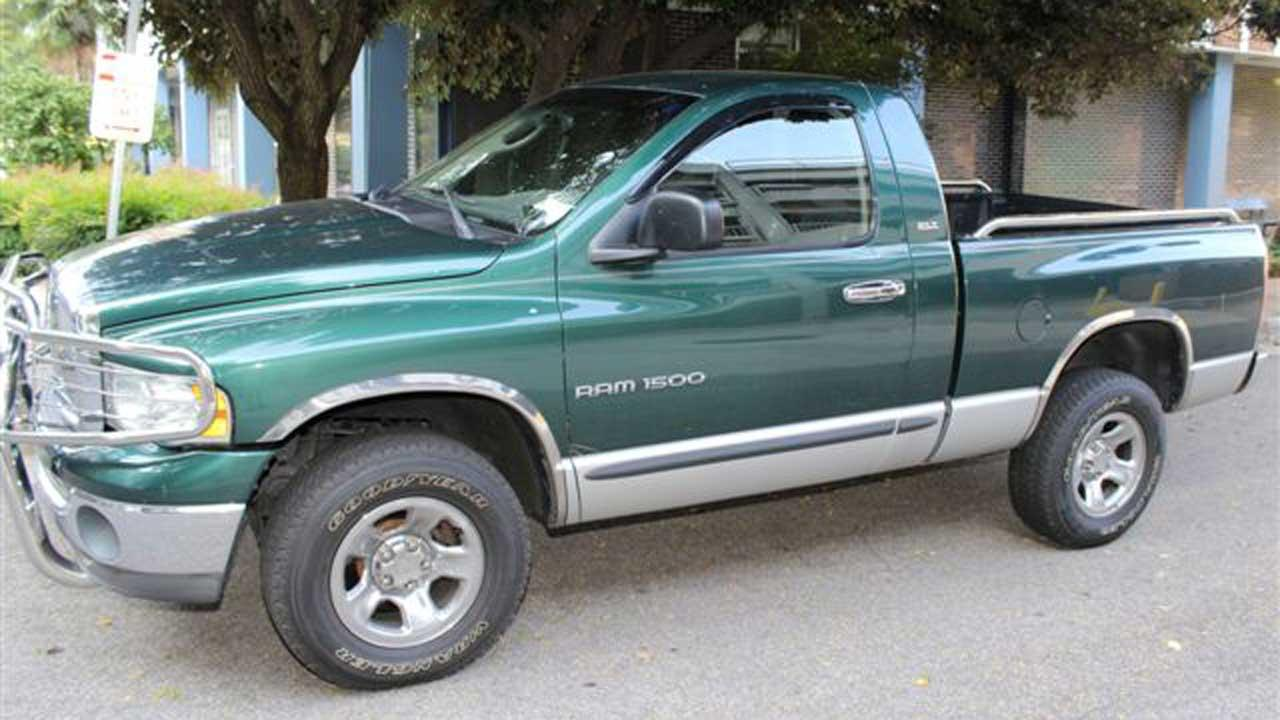 Thomas Arnold Floras green Dodge truck <span class=meta>(Photo courtesy of the Raleigh Police Department)</span>