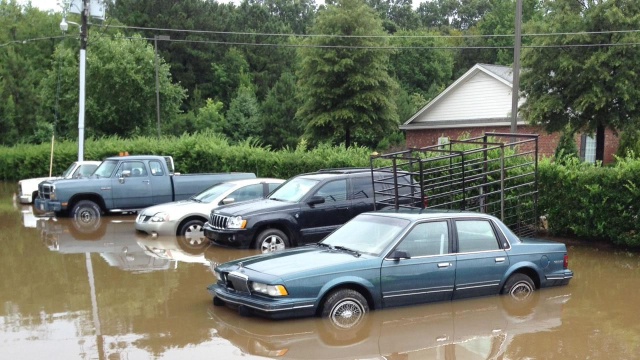 Heavy rains caused flooding in Johnston County