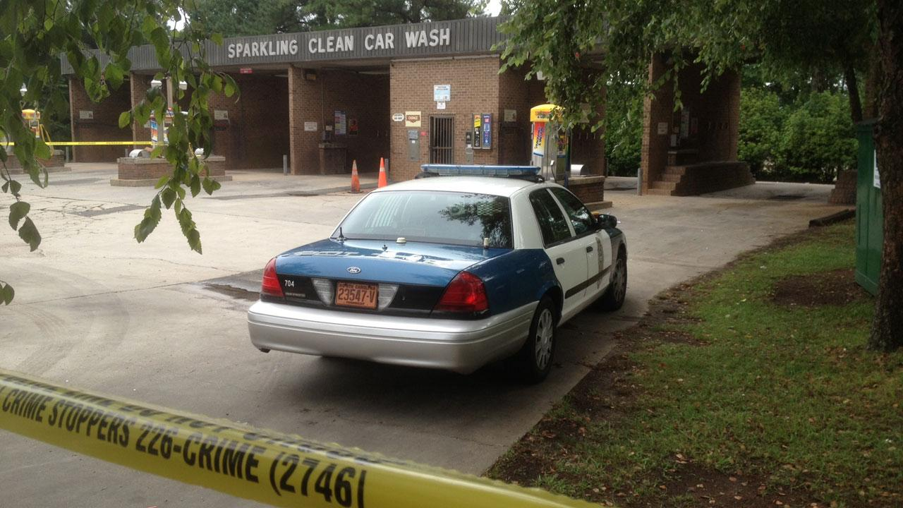 Authorities in Raleigh are investigating a reported robbery at at Sparkling Clean Car Wash
