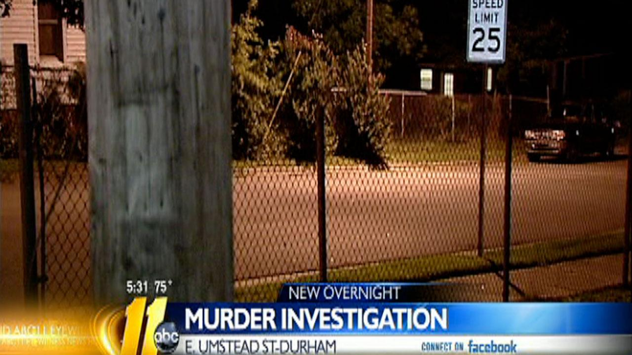 Authorities in Durham are investigating the shooting death of Travis Knight Monday night.