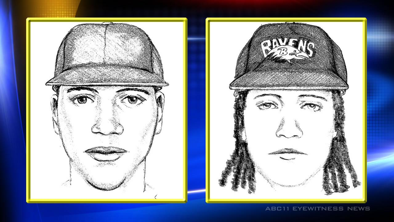Duke officials released sketches of the two suspects in the July 15 armed robbery at Duke Gardens.