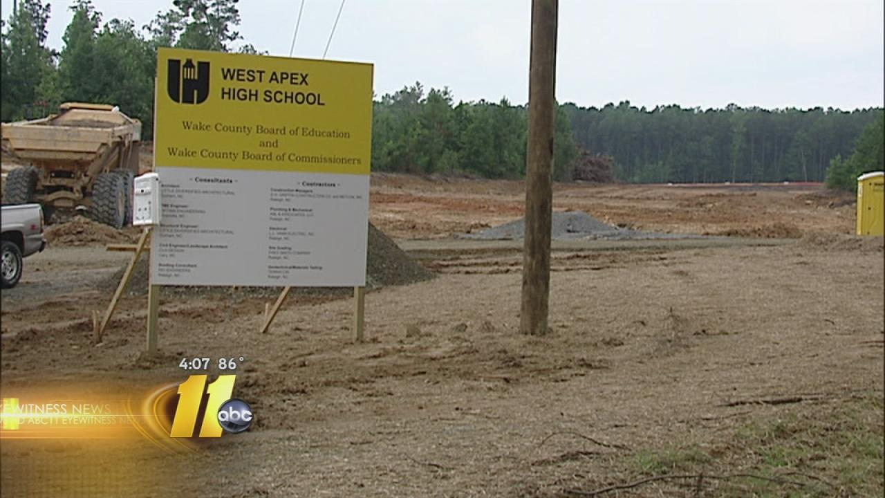 Apex Friendship High School construction