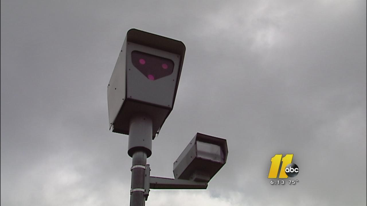 A redlight camera in Knightdale.