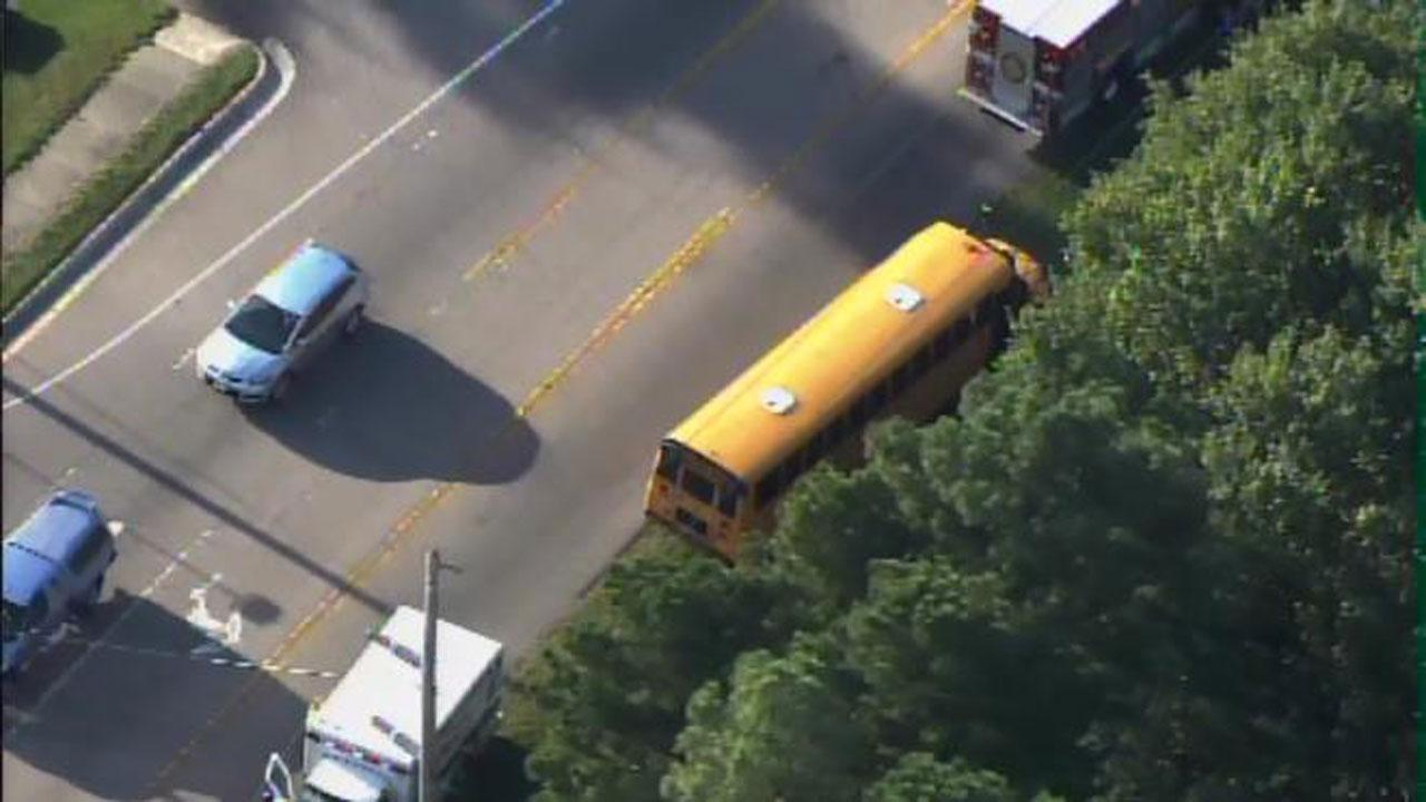 A Wake County school bus was involved in an accident along Trawick Road and Skycrest Drive in Raleigh Monday morning.