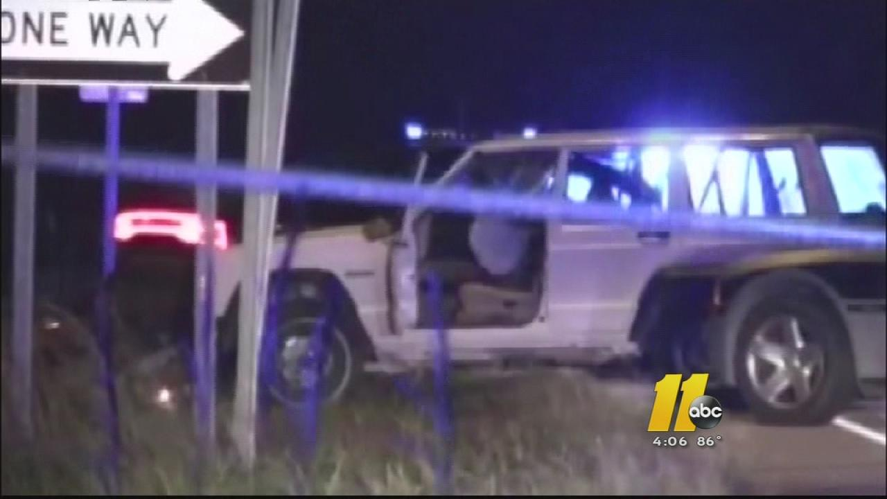 The jeep that Garrett Brooks stole and led police on a multi-county chase.
