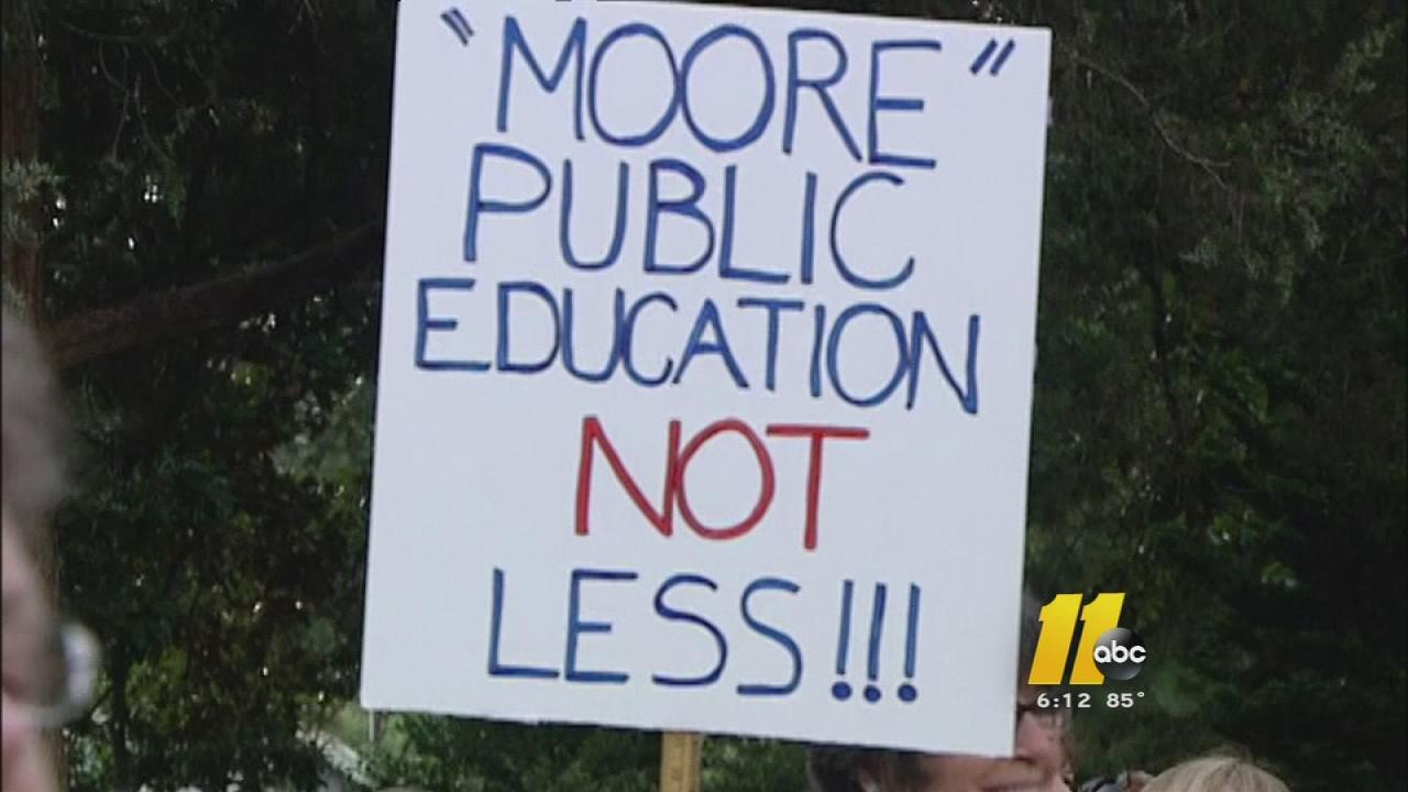 Moral Monday Moore County protest sign