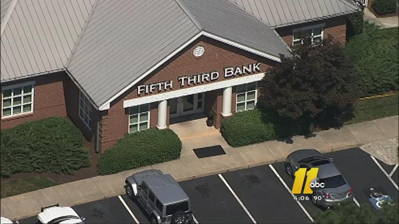 The Fifth Third Bank in the 7200 block of Tryon Road in Cary was robbed Tuesday.