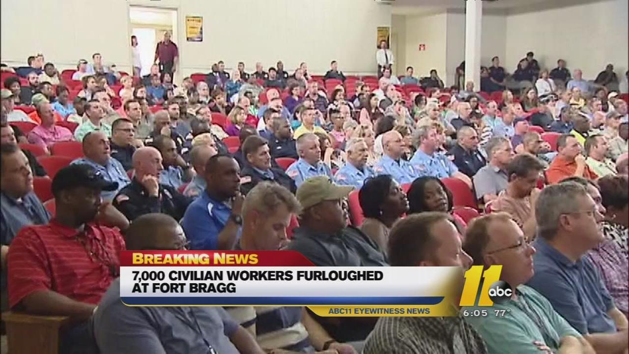 Civilian workers furloughed at Fort Bragg
