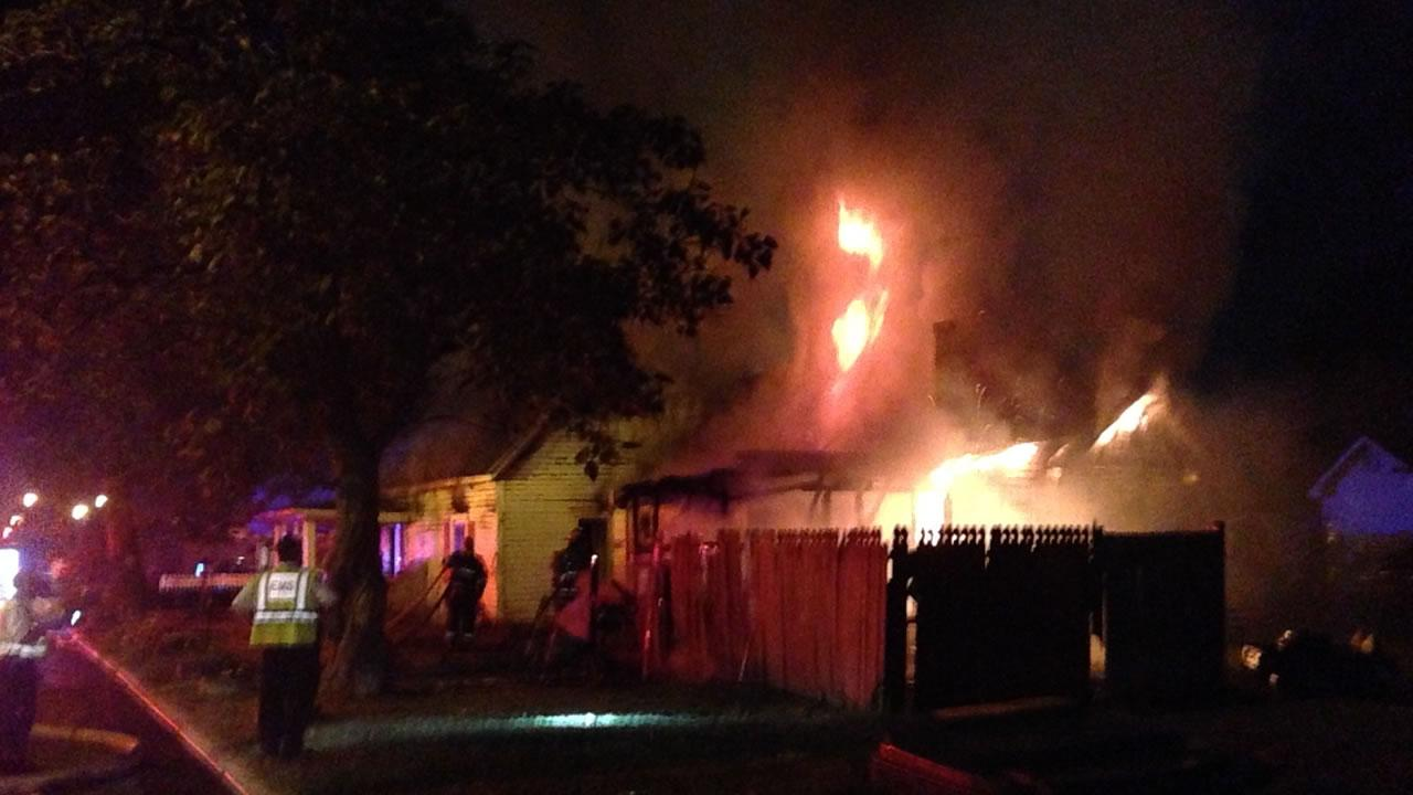 At least 10 people were displaced in the fire in the 400 block of Raiford Street in Selma.