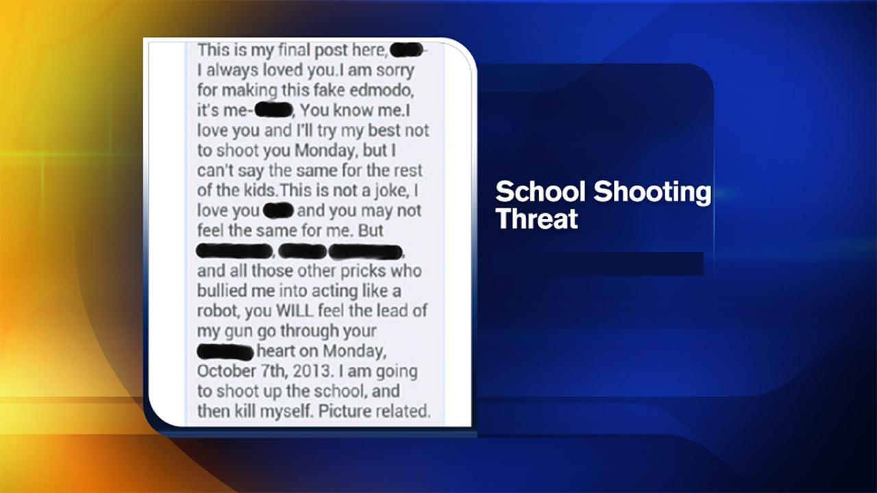 School shooting threat post