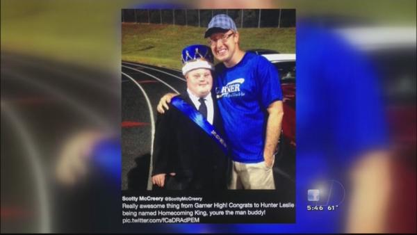 Garner High special needs student crowned Homecoming King