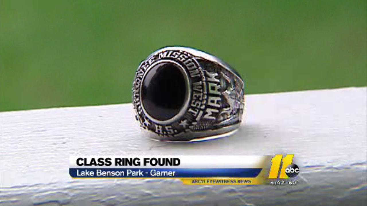 A local man came across the mens ring at Lake Benson Park in Johnston County.