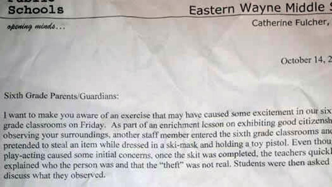 Wayne County middle school causes controversy with impromptu gun skit