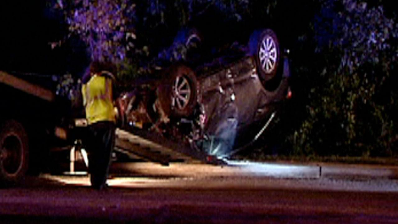 Authorities in Raleigh arrested three people overnight after a crash near North Carolina States campus.