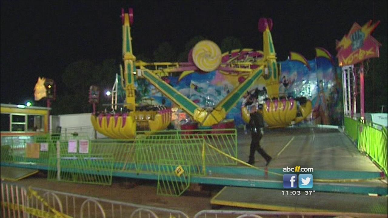 Vortex ride dark at N.C. State Fair