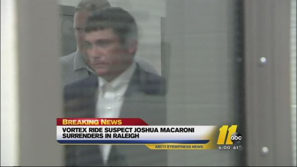 Son of Vortex ride owner turns himself in