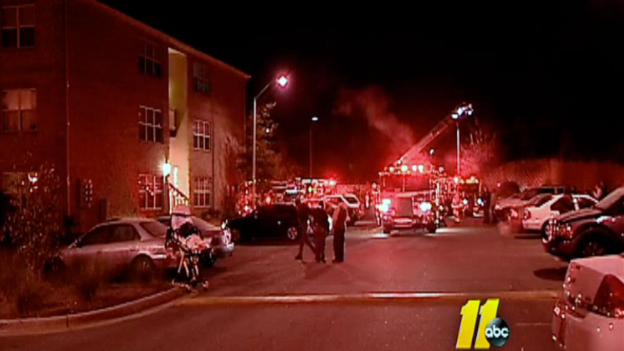 Firefighters called to complex after smoke was seen coming out of an apartment early Thursday morning.