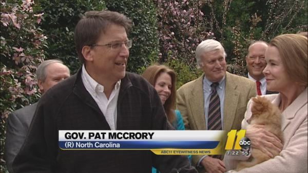 Governor Pat McCrory pushes pet adoption, puppy mill regulation