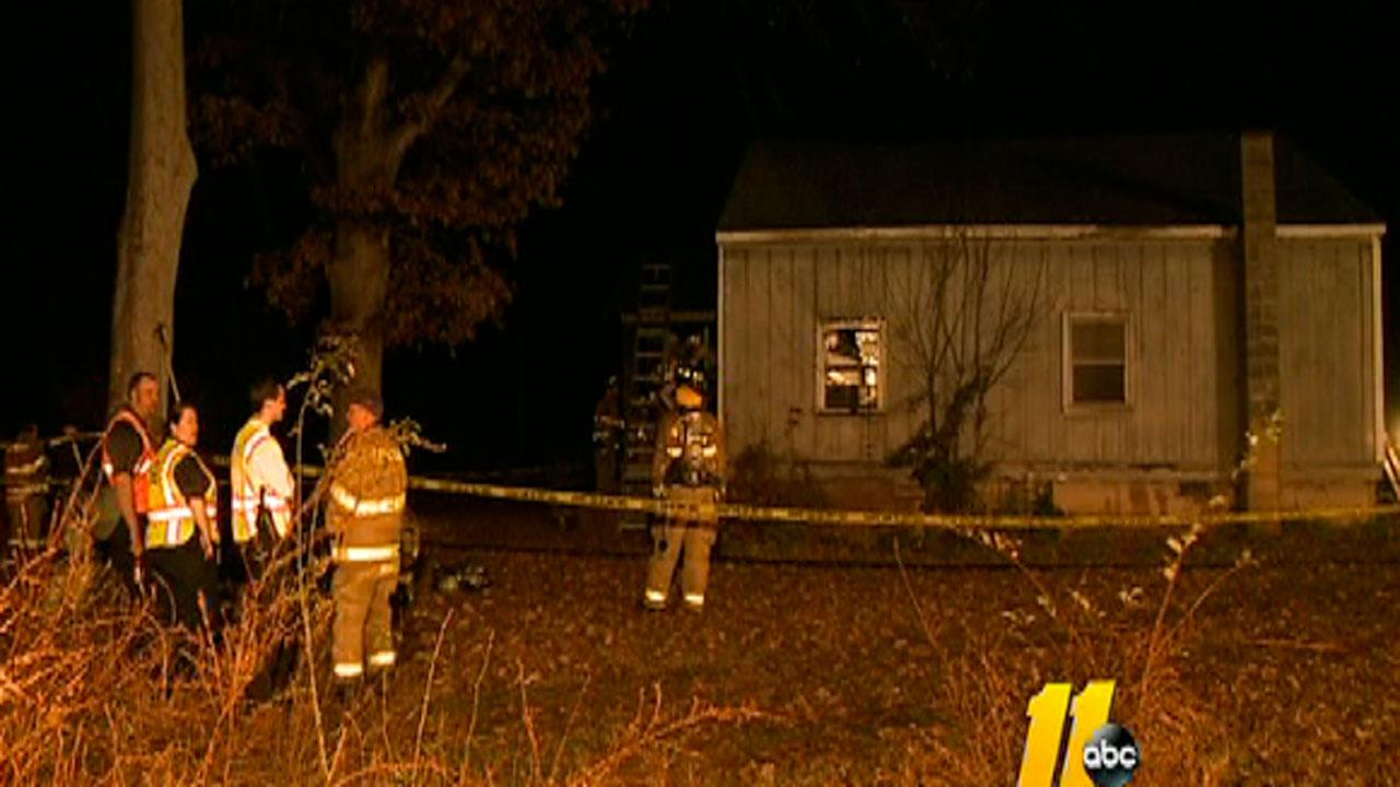Two people escaped from a burning home in Chapel Hill early Monday morning.