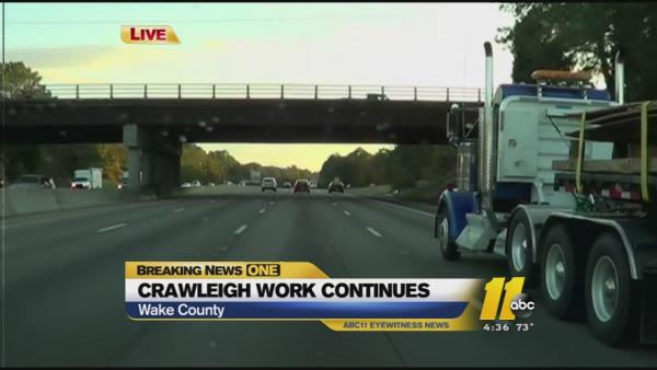 Lane closures for Crawleigh continue, drivers should prepare for delays