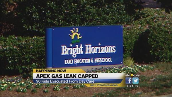 Gas leak in Apex causes daycare evacuation