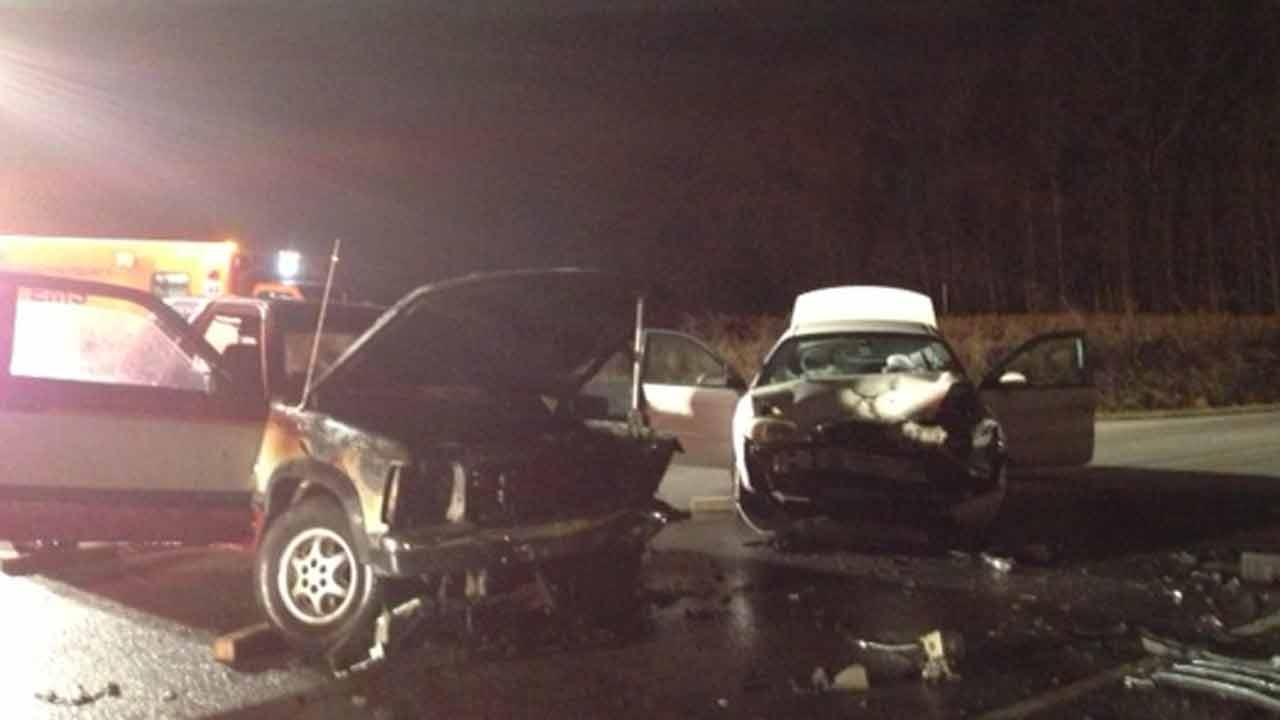 A crash on Little Creek Church Road in Clayton injured four.