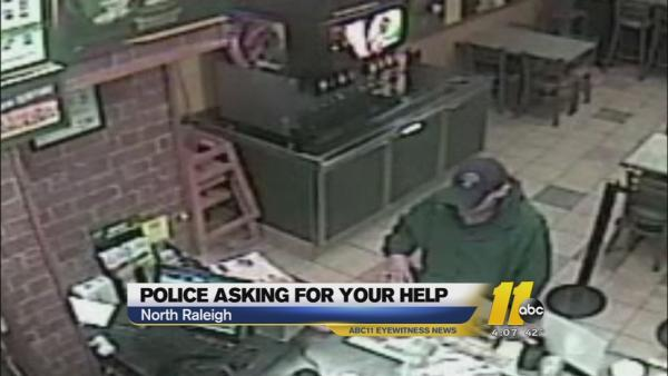 Raleigh police trying to identify Subway, Ace Hardware robber