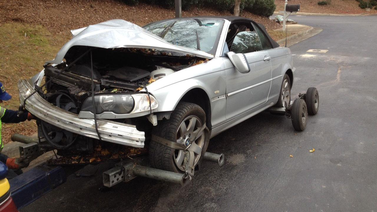 An accident caused power outages and road closures in Raleigh Tuesday morning.