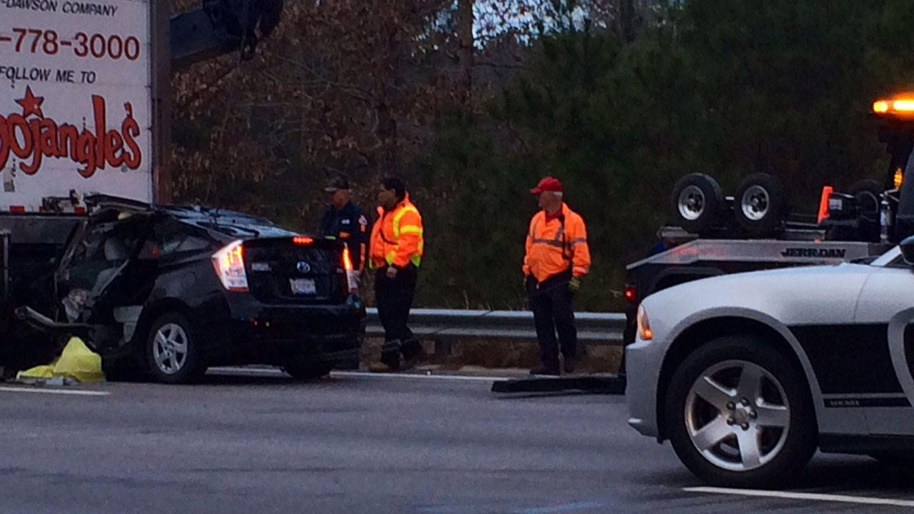 Accident along I-540ABC11 Reporter Anthony Wilson