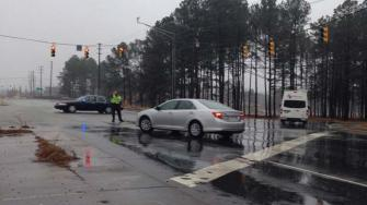 A gas leak along Highway 55 between US-1 and Technology Drive in Apex prompted several evacuations Monday morning.