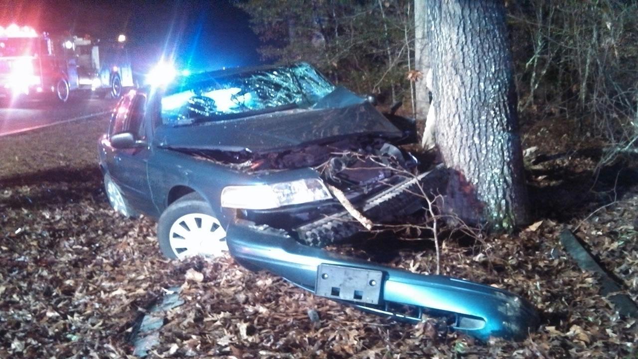 A deputy hit a deer on Vass-Carthage Road Monday.
