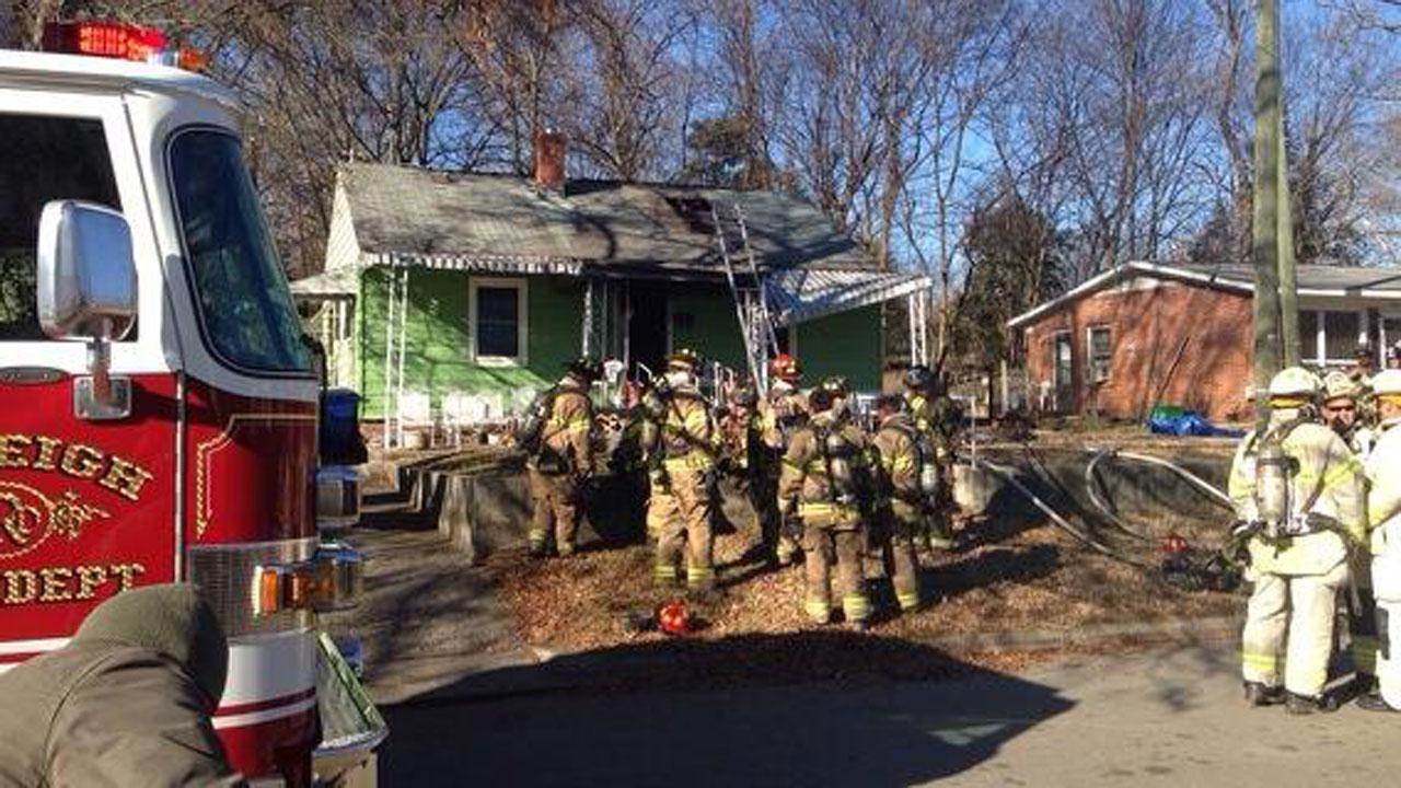 House fire on Freeman Street in Raleigh.