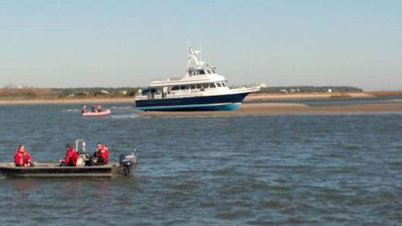 Bald Head Ferry runs aground <span class=meta>(United States Coast Guard)</span>