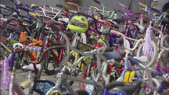 The Bicycle Man charity donates hundreds of bikes to children in need for Christmas each year.