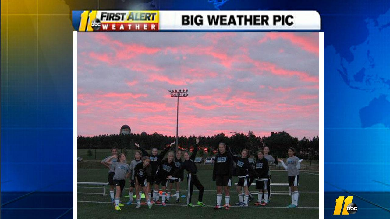 Wake Futbol Club girls prepare for an 8 a.m. semifinal game in Mooresville <span class=meta>(iWitness viewer photo)</span>