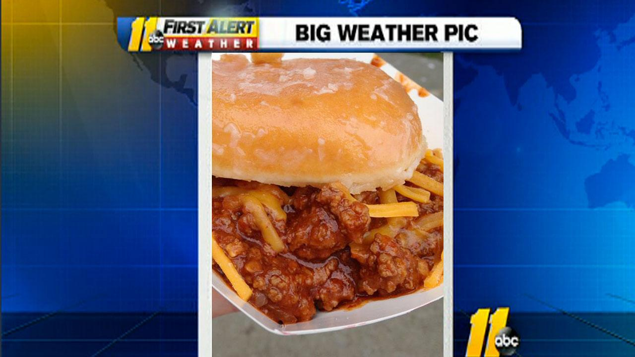 Picture of the Sloppy Joe Krispy Kreme sandwich at the 2013 North Carolina State Fair by Ginny Skalski of Raleigh <span class=meta>(iWitness viewer photo)</span>