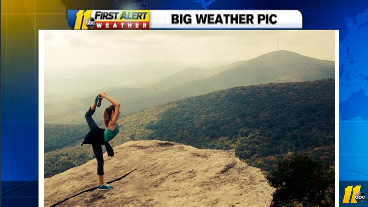Yoga on a cliff in Boone, NC <span class=meta>(iWitness viewer photo)</span>