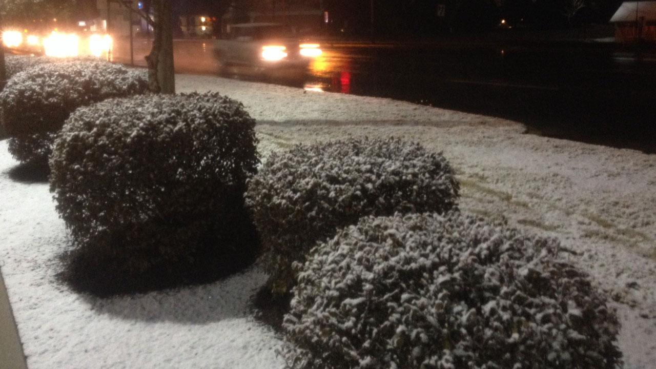 Snow in RoxboroABC11 Photojournalist Jim Schumacher