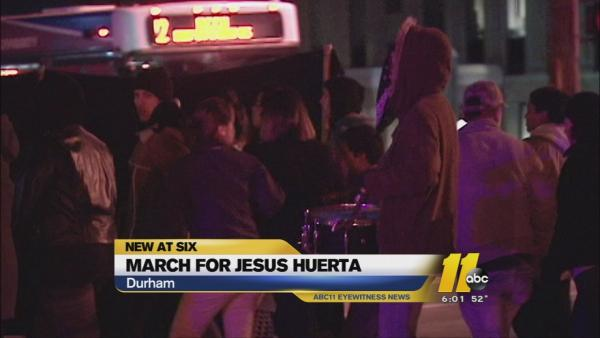 Third march honoring Jesus Huerta