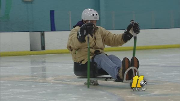 Sled hockey allows people with disabilities to get out on the ice