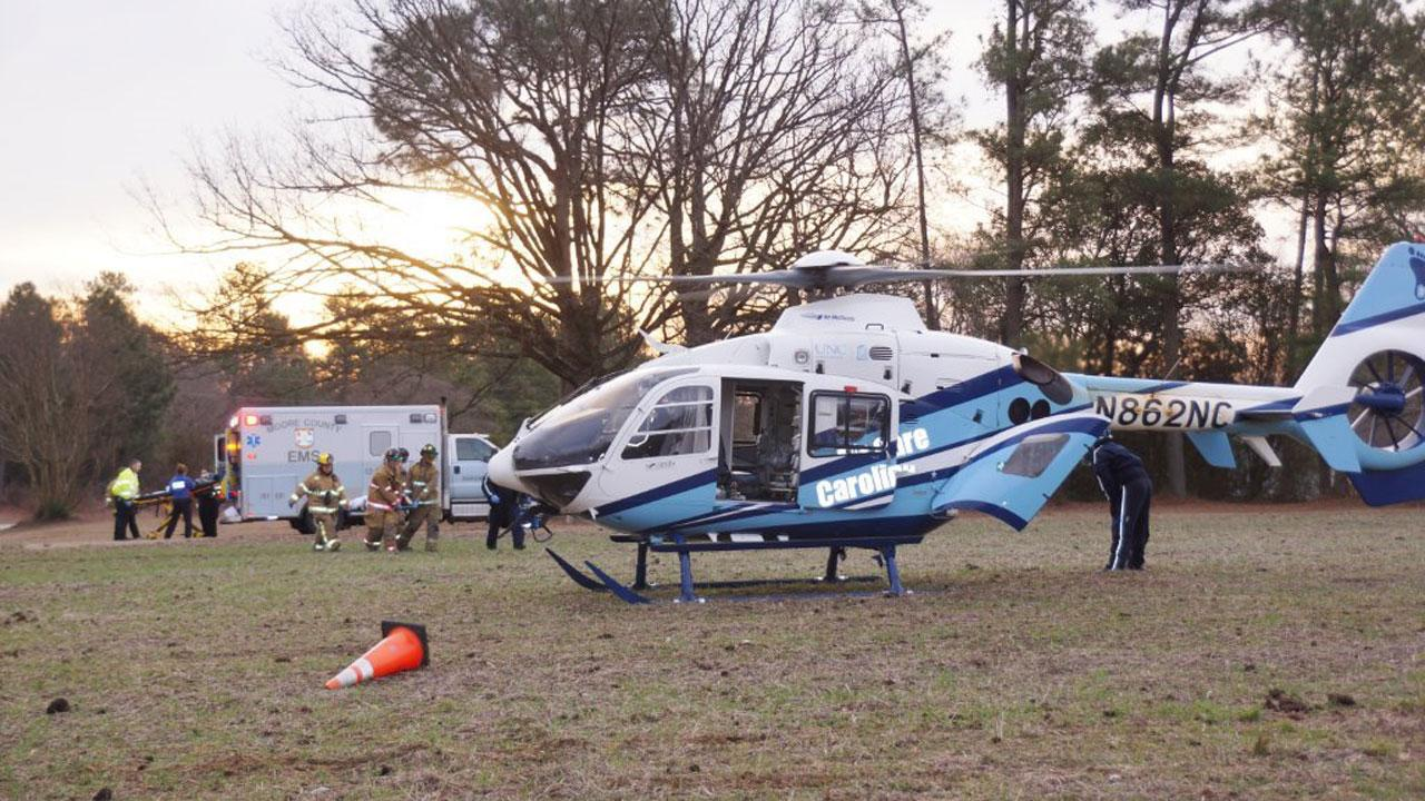 Two people had to be flown to the hospital following a severe accident in Moore County Thursday morning. <span class=meta>(Frank Staples)</span>