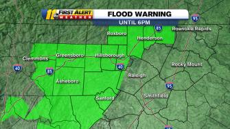 Flood warning map