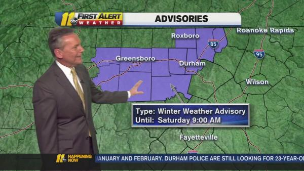 The latest ABC11 First Alert Weather forecast
