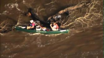 Kayakers stranded on Cape Fear River