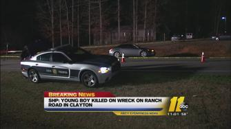 Johnston County crash, child killed